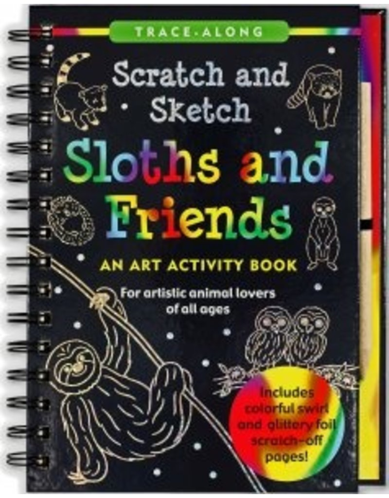 Peter Pauper Scratch and Sketch Sloths & Friends