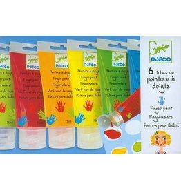 djeco Art Supplies 6 Finger Paint Tubes - Classic