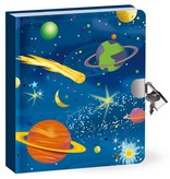 Peaceable Kingdom DEEP SPACE LOCK AND KEY DIARY