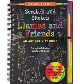 Peter Pauper Scratch and Sketch Llamas & Friends