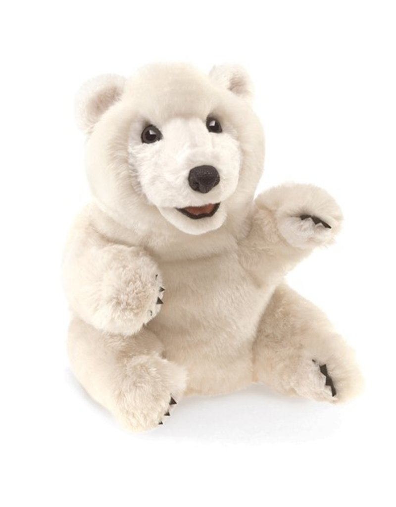 Folkmanis Polar Bear Sitting Puppet