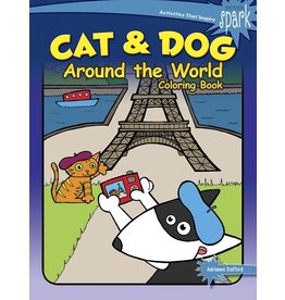 Dover SPARK Cat & Dog Around the World Coloring Book
