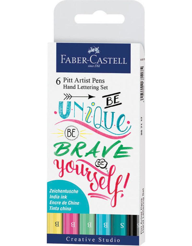 Faber-Castell 6ct Pitt Artist Pen Handlettering I