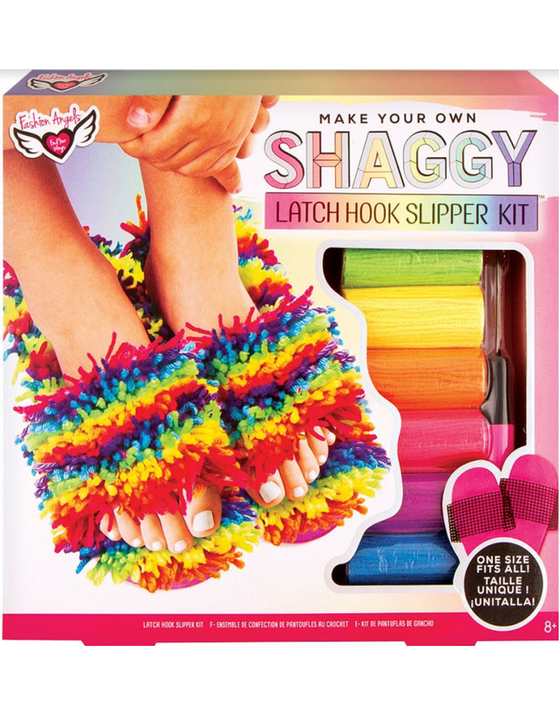 Fashion Angels Latch Hook Slipper Kit - (one size fits all)