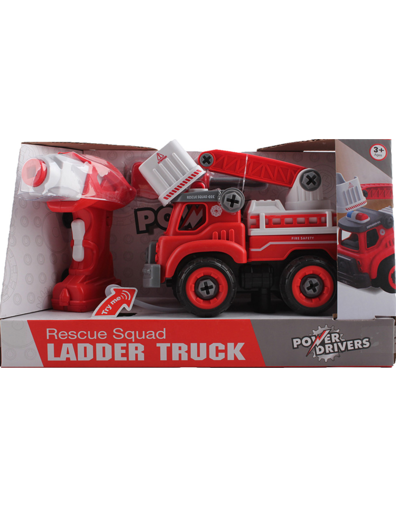 Flybar Power Driver Fire Ladder Truck