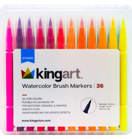 Kingart Watercolor Brush Tip Markers