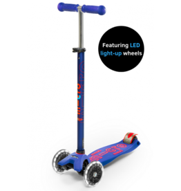 Micro Kickboard Maxi Deluxe LED Blue