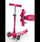 Micro Kickboard Micro Mini Deluxe LED Pink