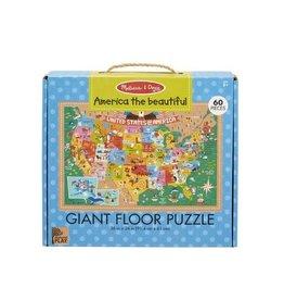 Melissa & Doug America Giant Floor Puzzle 60pc