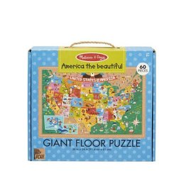 Melissa & Doug USA Giant Floor Puzzle 60pc