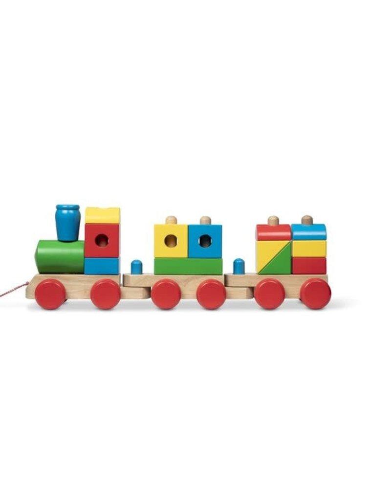 Melissa & Doug Wooden Jumbo Stacking Train - Classic