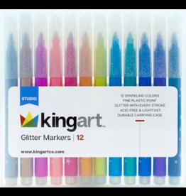 Kingart Glitters Markers Set - 12