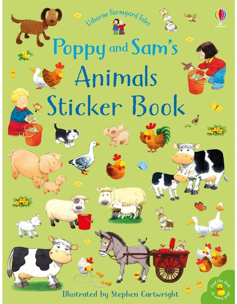 Usborne Animals Sticker Book-Poppy and Sam
