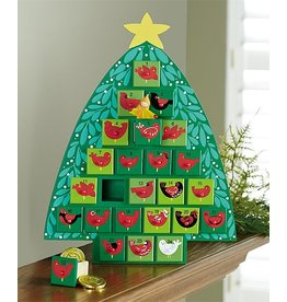 HearthSong Wooden Tree Advent Calendar