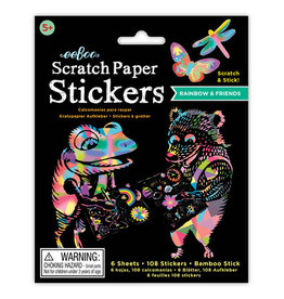 Eeboo Rainbow & Friends Scratch Stickers