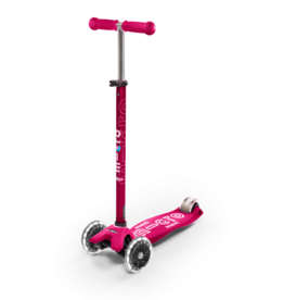 Micro Kickboard Micro Maxi Deluxe LED Pink