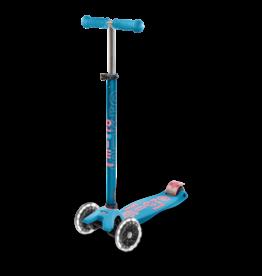 Micro Kickboard Micro Maxi Deluxe LED Aqua