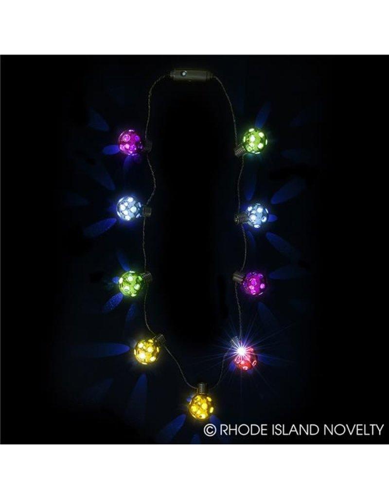 Rhode Island Novelty Rainbow Disco Ball Necklace