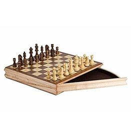 "CHH Chess Set 14"" w/drawer"