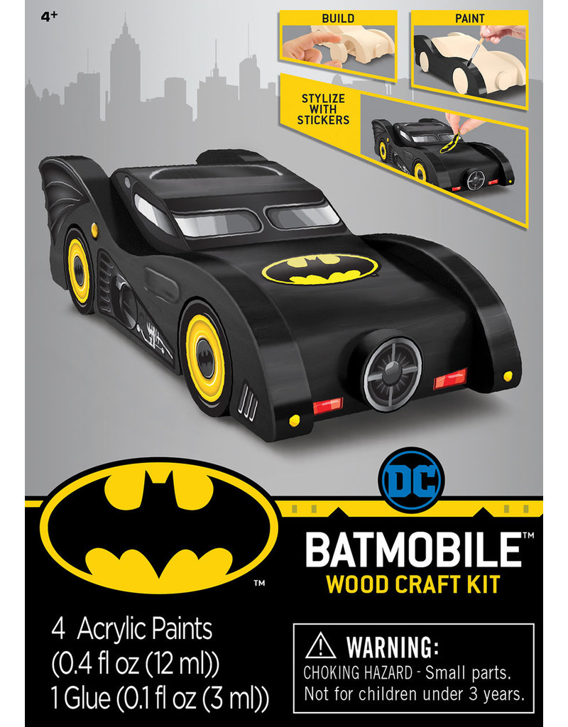 Masterpieces Puzzles Batmobile Wood Paint Set
