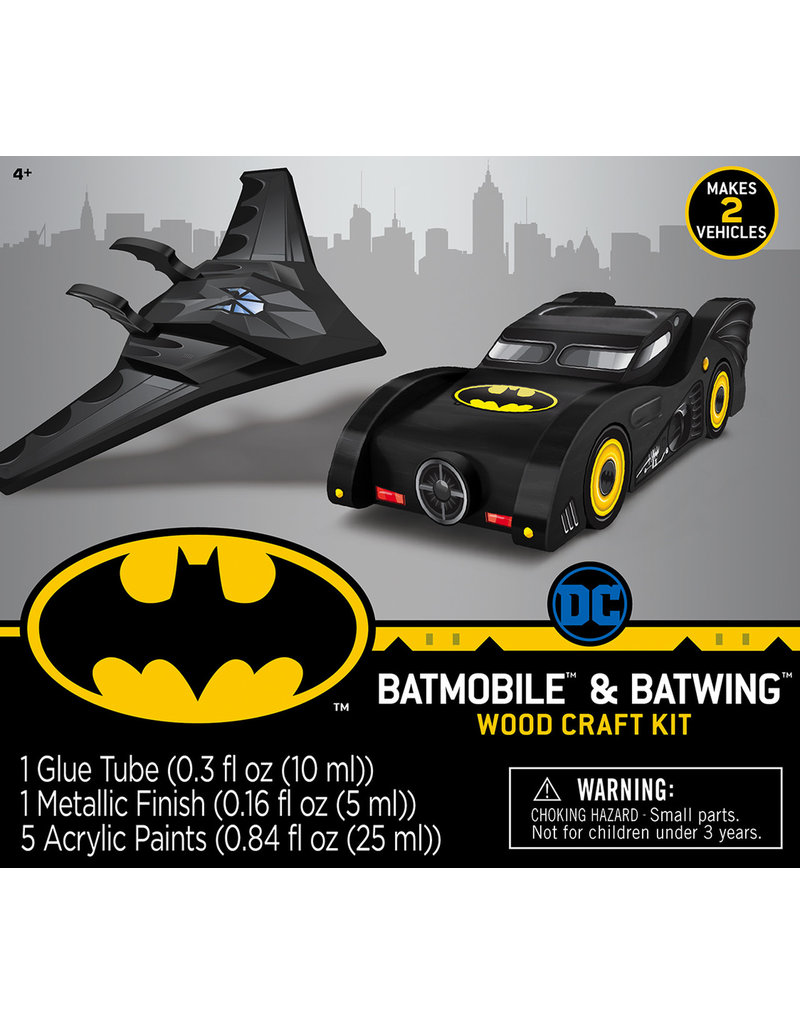 Masterpieces Puzzles 2-pack Batman Wood Paint Set