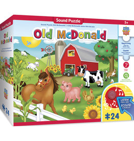 Masterpieces Puzzles Old MacDonald Sing-a-Long 24 pc
