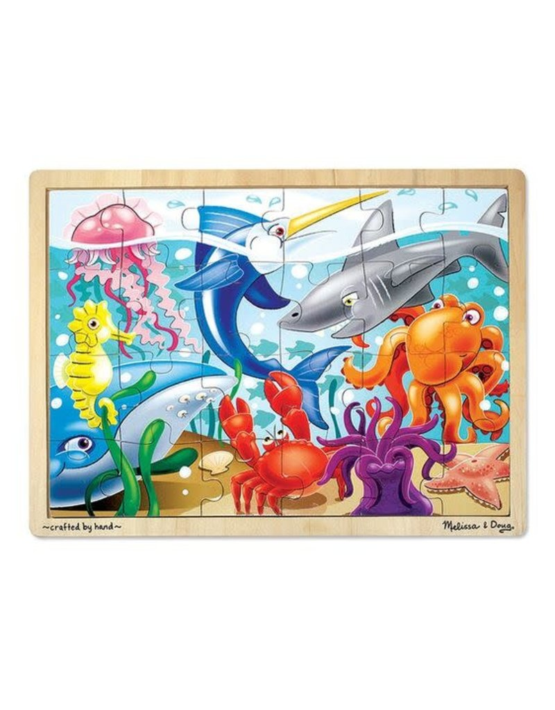 Melissa and Doug Under the Sea Tray pzl 24 pc