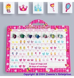 Jeannie's Ent Princess Earring & Ring Set