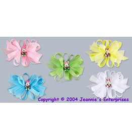 Jeannie's Ent Medium Easter Bow- Easter