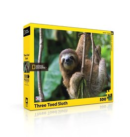 New York Puzzle Co Three Toed Sloth 500 pc