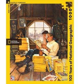 New York Puzzle Co 100 Years  of National Geographic 1000 pc