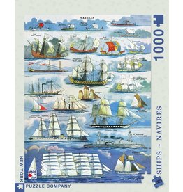 New York Puzzle Co Navires - Ships 1000 pc