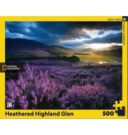 New York Puzzle Co Heathered Highland Glen 500 pc