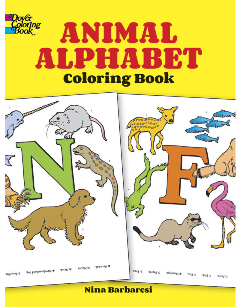 Dover Animal Alphabet Coloring Book