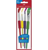 Faber-Castell 4 Pack Soft Grip Brushes