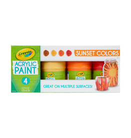 Crayola Multi Surface Acrylic Sunset Colors