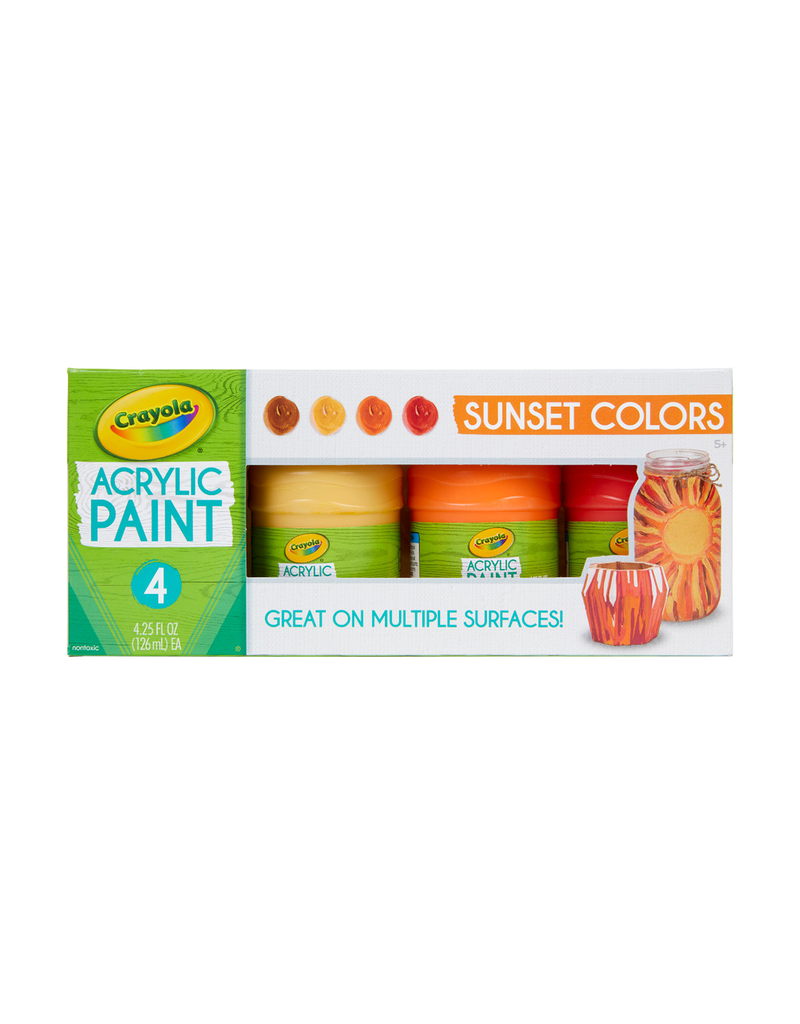 Crayola Multi Surface Acrylic Sunset Colors