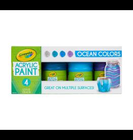 Crayola Multi Surface Acrylic Ocean Colors