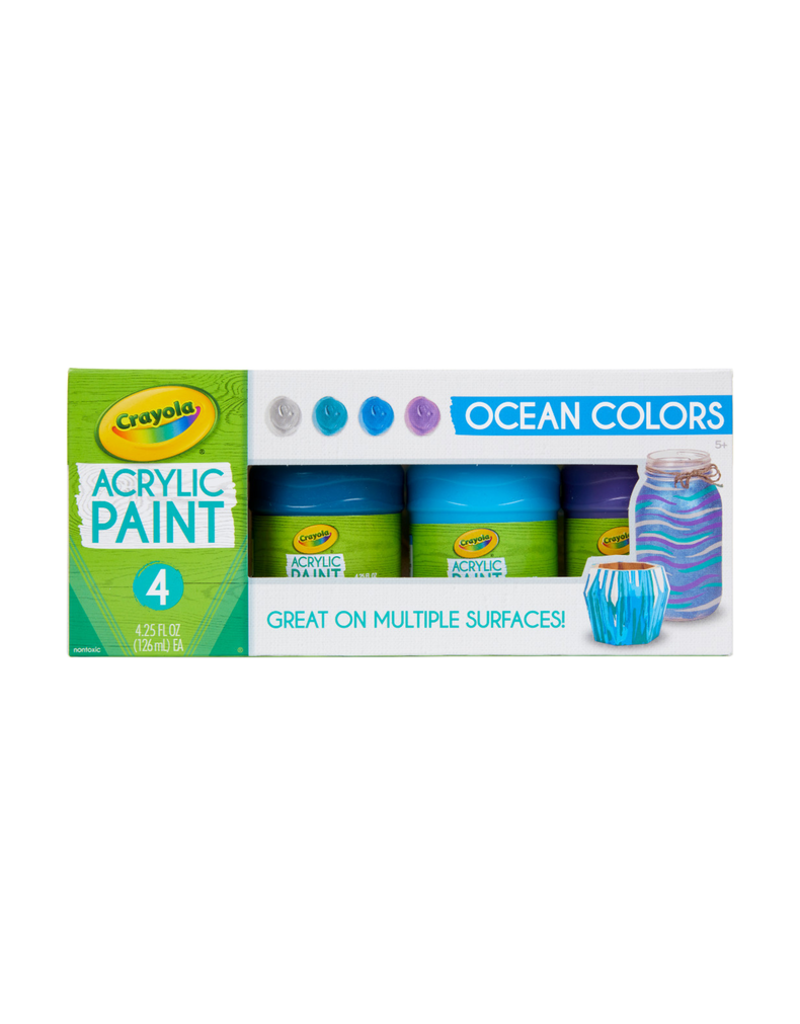 Crayola Multi Surface Acrylic Ocean Colors
