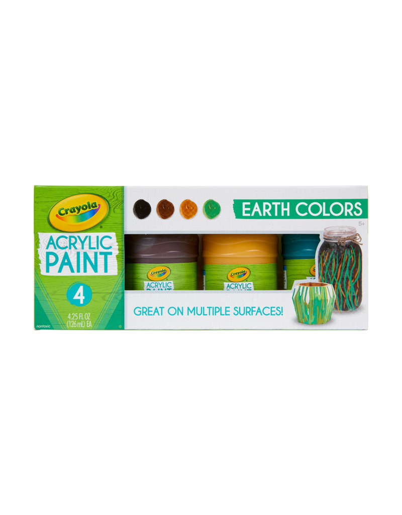 Crayola Multi Surface Acrylic Earth colors