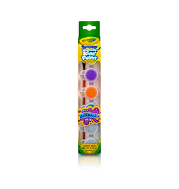 Crayola Washable Kids' Paint Pots, Glitter Effects