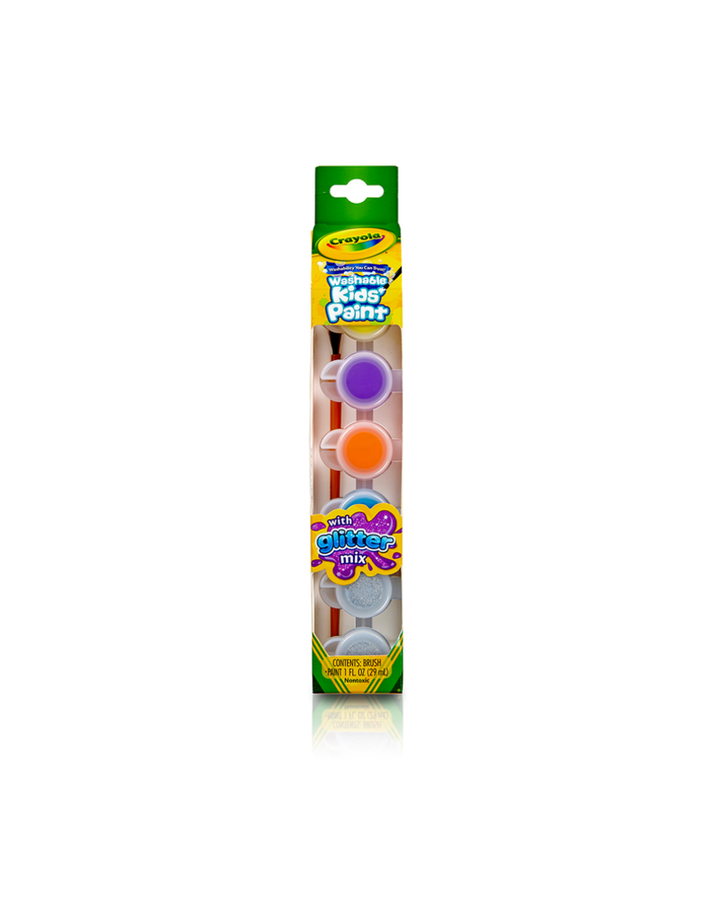 Crayola Washable Kids' Paint Pots, Glitter Effects