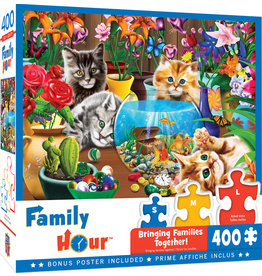 Masterpieces Puzzles Marvelous Kittens 400 pc Family