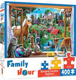 Masterpieces Puzzles Peeking Through 400 pc Family