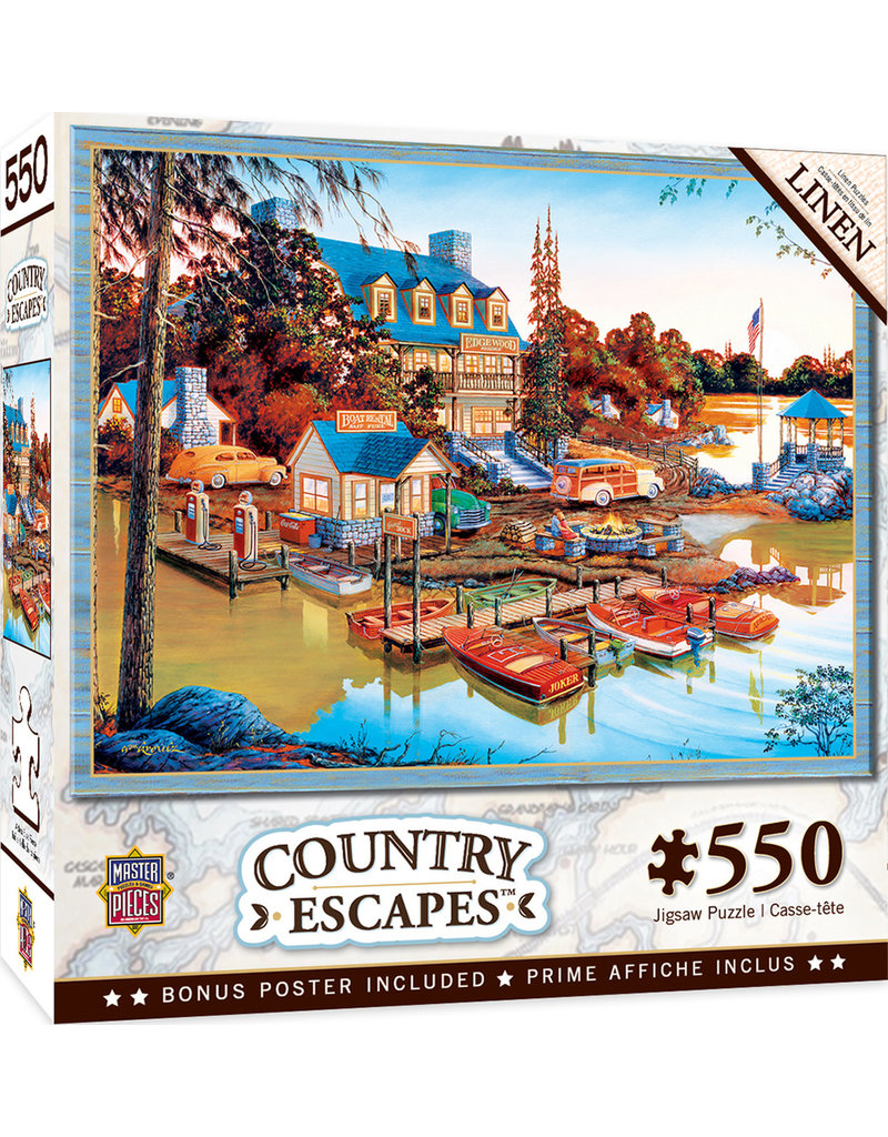 Masterpieces Puzzles Peaceful Easy Evening 550 pc