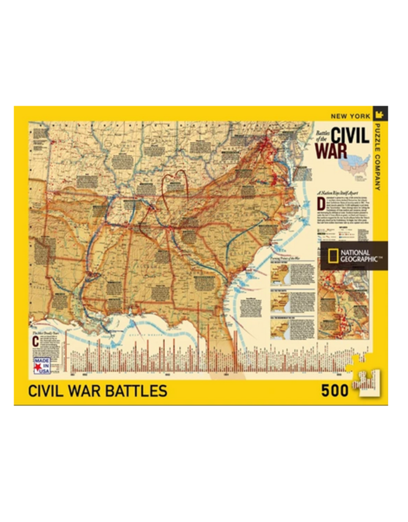 New York Puzzle Co Battles of the Civil War 500 pc