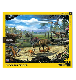 New York Puzzle Co Dinosaur Shore 200 pc