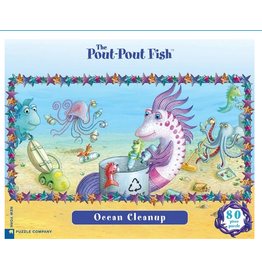 New York Puzzle Co Pout Pout Ocean Cleanup 80 pc