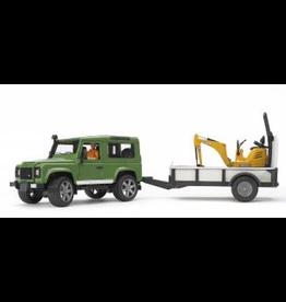 Bruder Land Rover w/ Micro Excavator