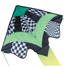 Premier Kites Green Op-Art Large Easy Flyer Kite